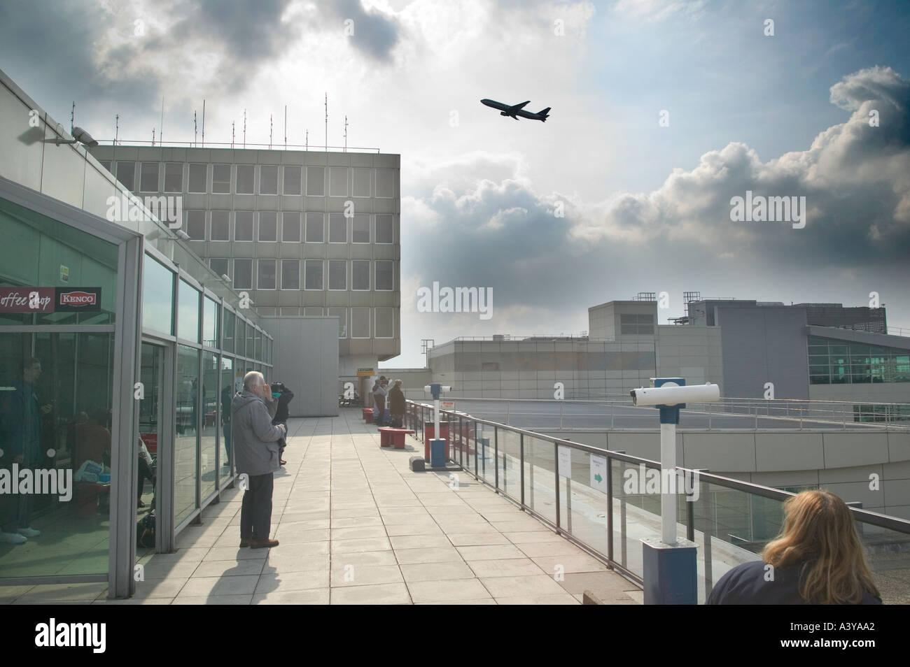 UK London Gatwick airport - Stock Image