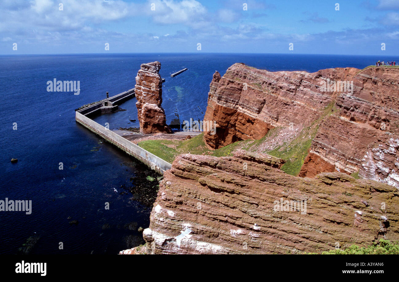 rock formation lange anna island of helgoland north sea county of schleswig holstein germany Stock Photo