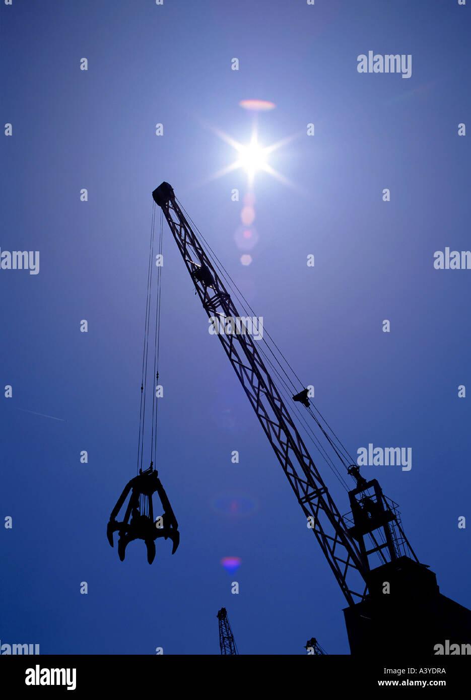 crane at scrap yard - Stock Image