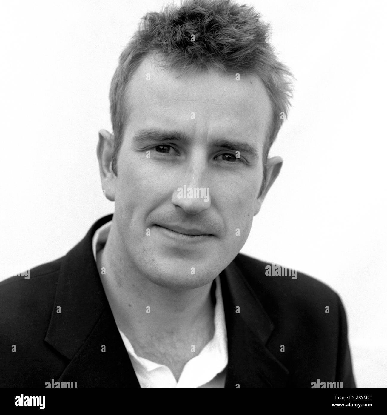 British author Robert Macfarlane at the 2003 Hay Festival UK in Hay-on-Wye Wales    KATHY DEWITT - Stock Image
