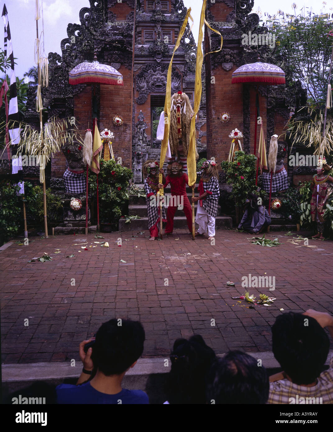 travel /geography, Indonesia, Bali, tradition / folklore, Barong dance, appearance of Rangda, South East Asia, mythology, - Stock Image