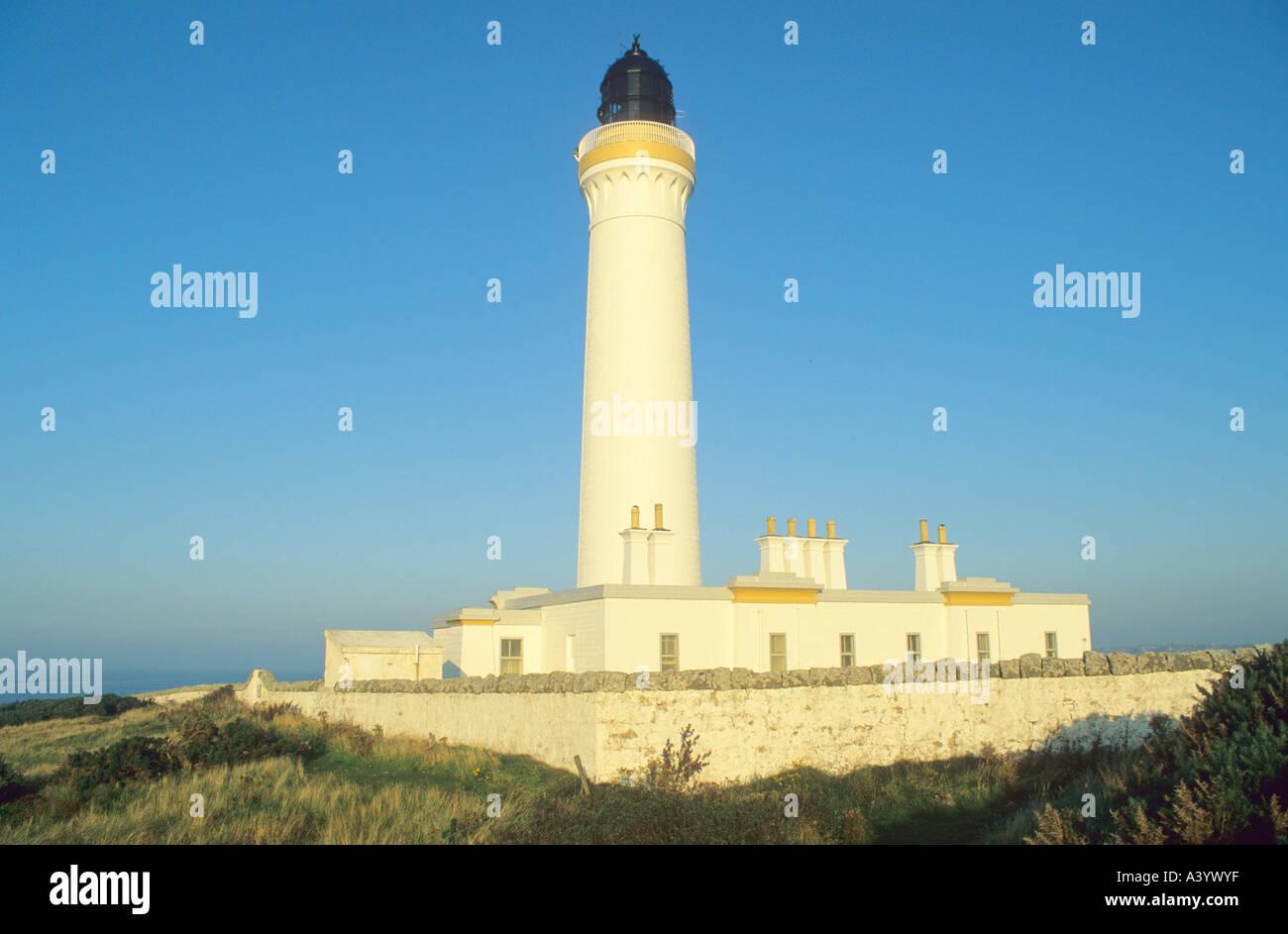 Covesea Skerries Lighthouse Scotland - Stock Image