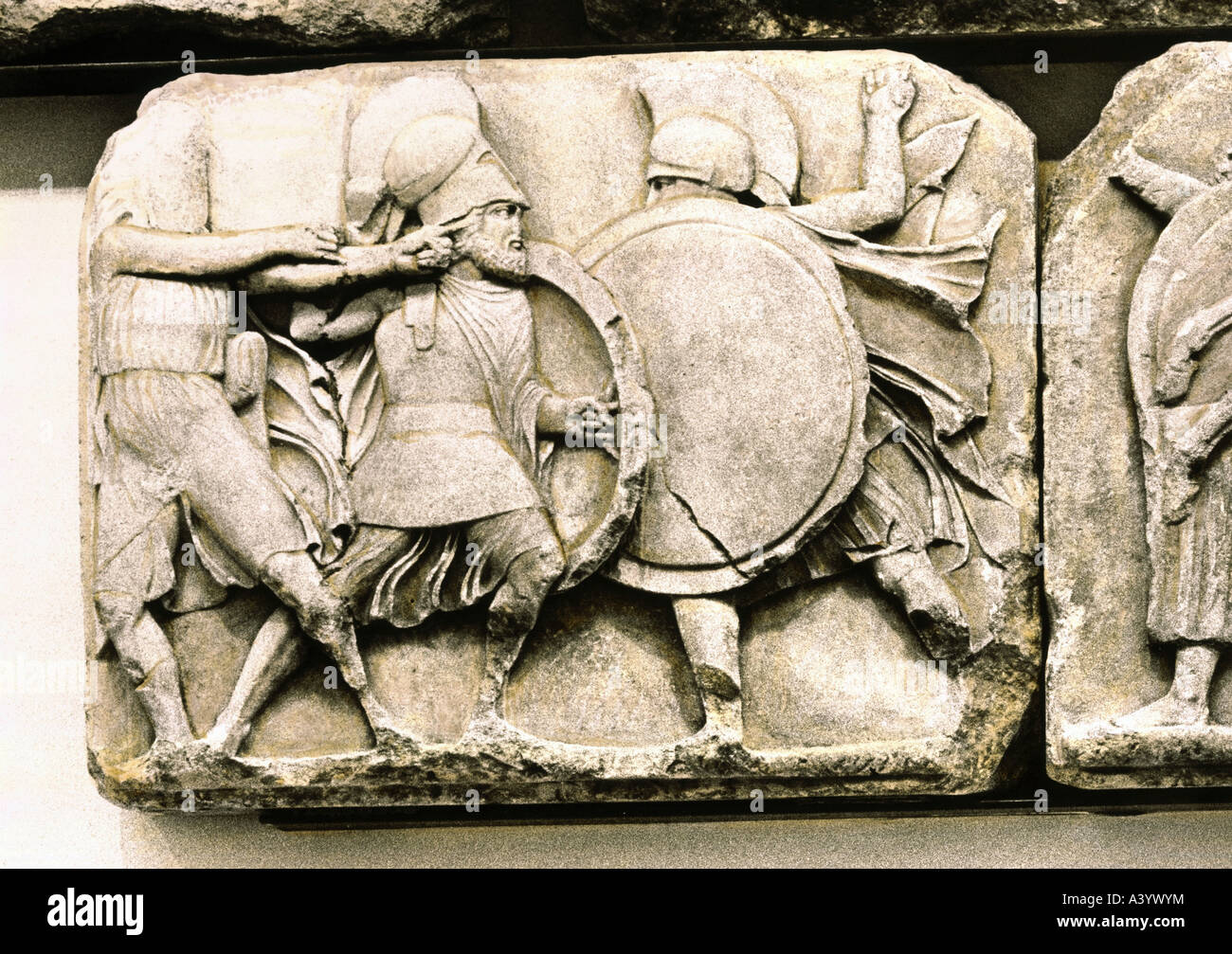 fine arts ancient world greece sculpture combat scene relief
