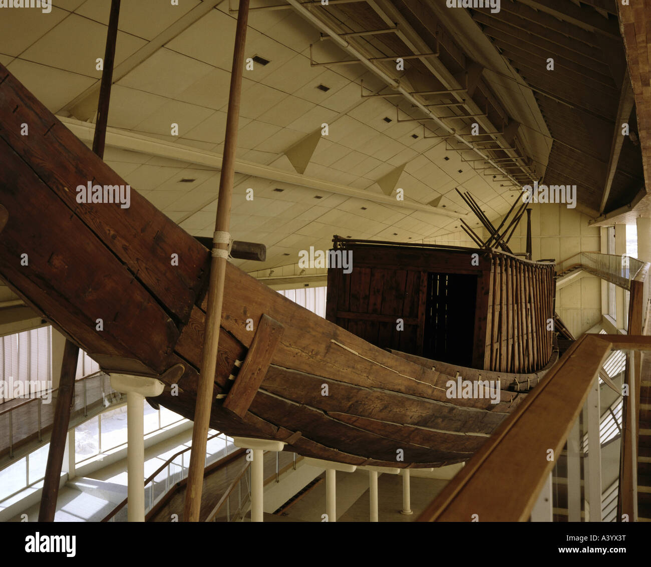 travel /geography, traffic / transport, navigation, ancient world, Egypt, royal barque of pharaoh Khufu for transferring - Stock Image
