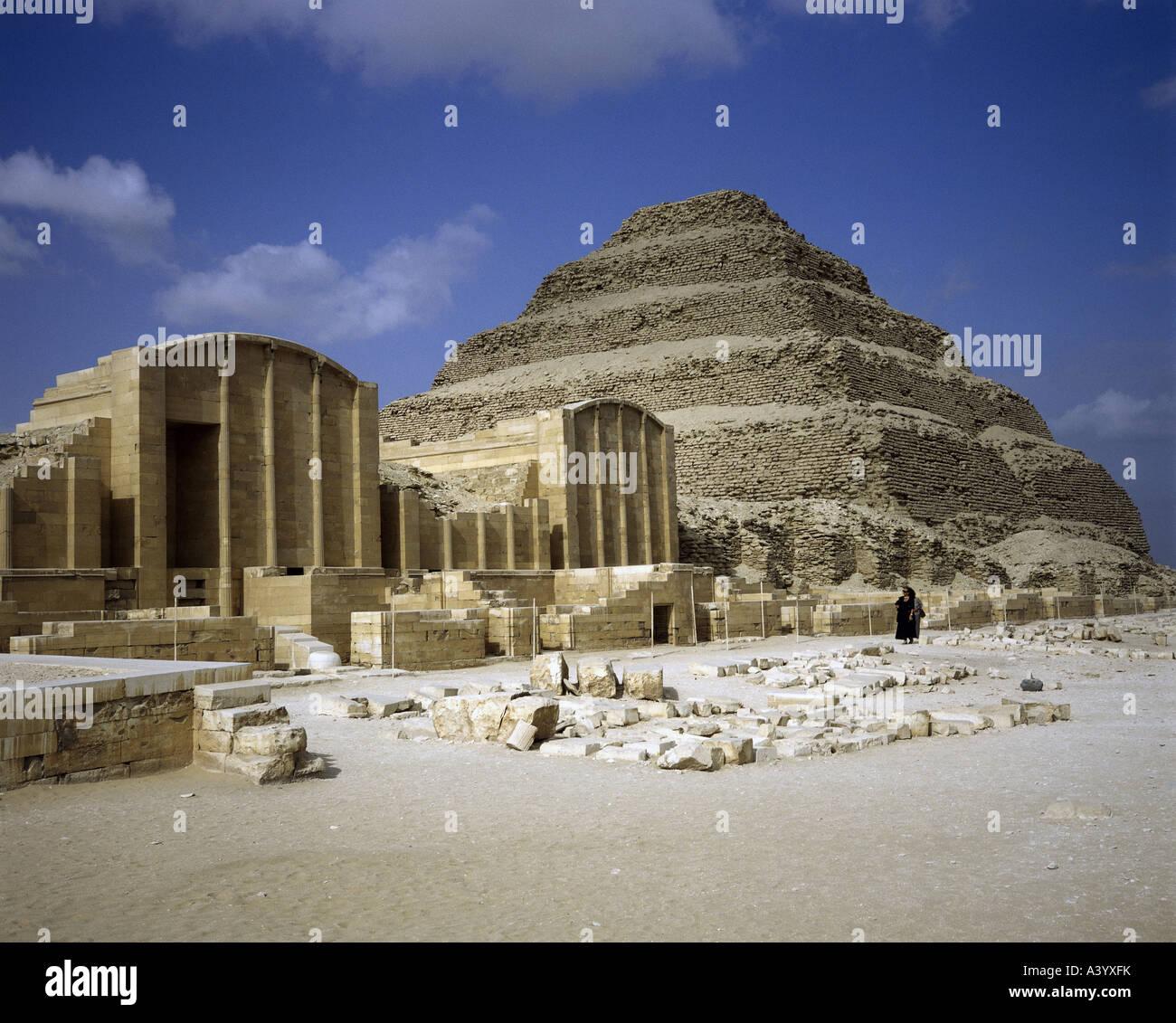 Travel Geography: Travel /geography, Egypt, Saqqara, Buildings, Step Pyramid