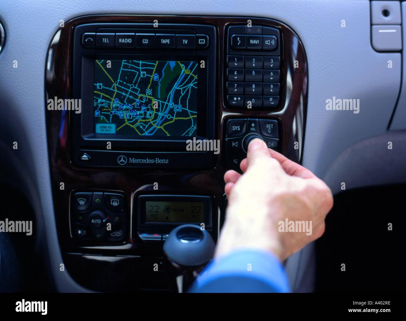 car navigation system traffic radio - Stock Image