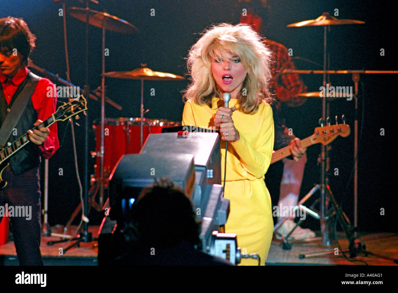 Debbie Harry of pop group Blondie performing Picture This PER0120 Stock Photo