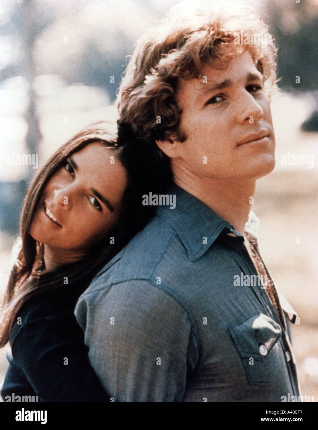LOVE STORY  Ali MacGraw and Ryan O'Neal in the 1970 Paramount film - Stock Image