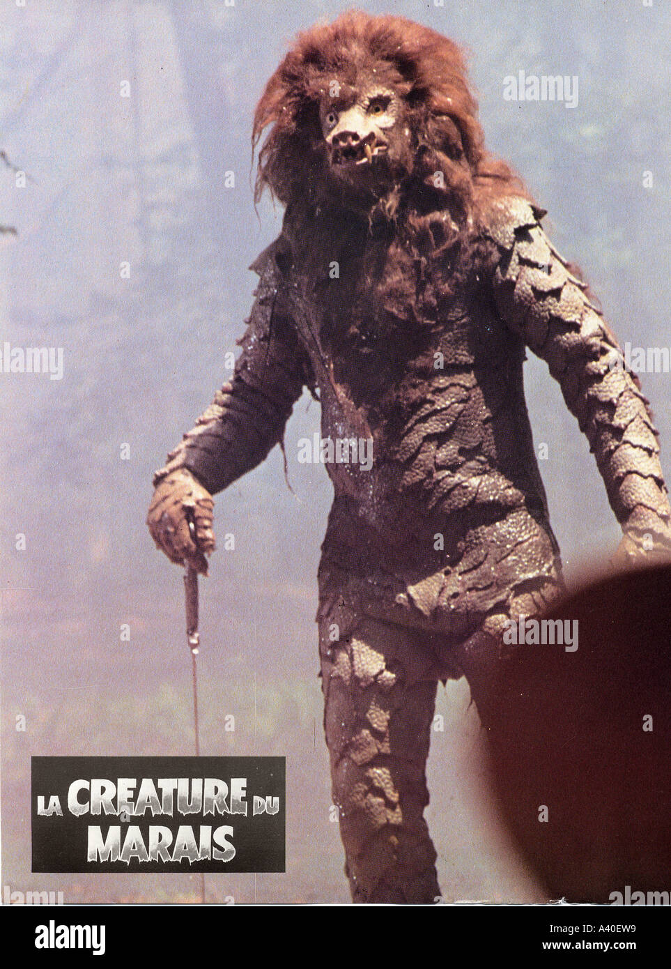 LA CREATURE DU MARAIS French horror film - Stock Image