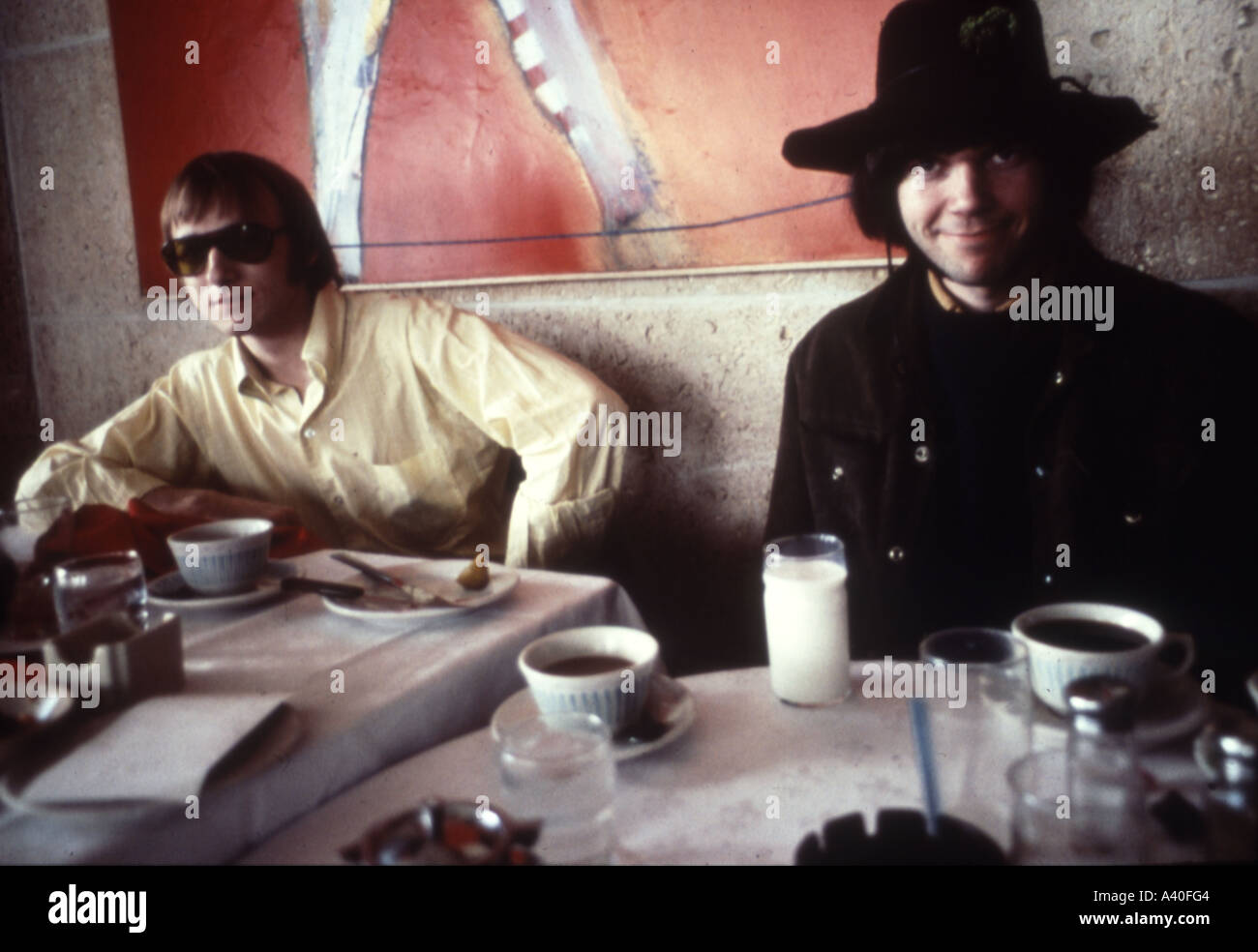 BUFFALO SPRINGFIELD  Neil Young at right and Stephen Stills in 1967 - Stock Image