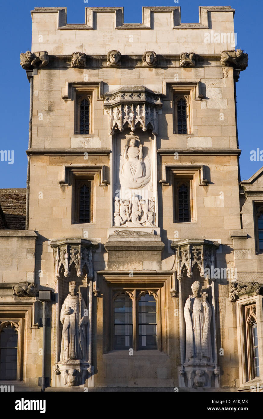 Facade of All Soul's College Oxford 1 - Stock Image