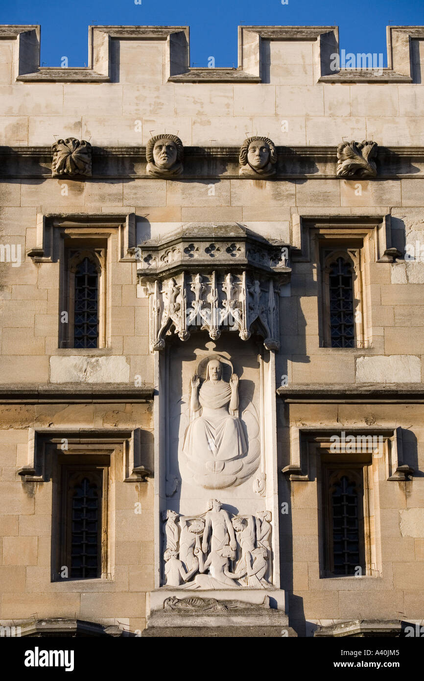Facade of All Soul's College Oxford 2 - Stock Image