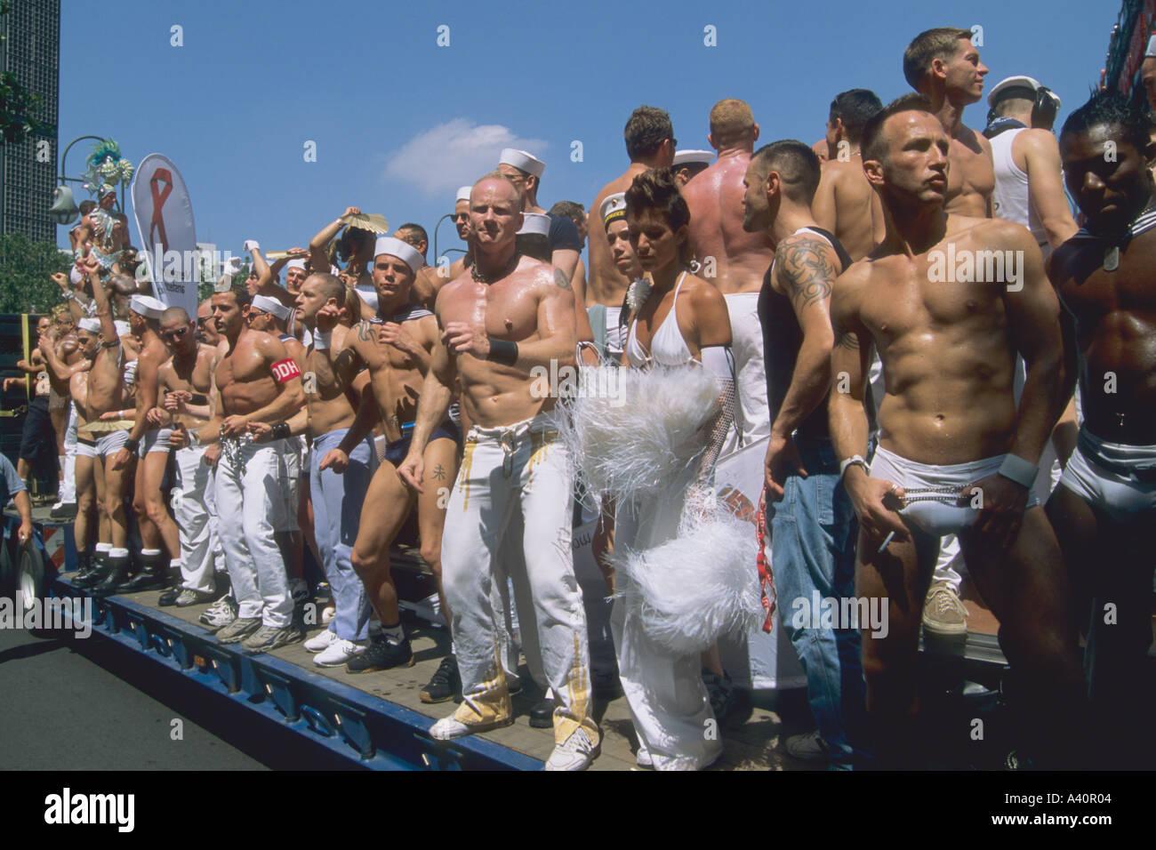 Germany Berlin Love Parade - Stock Image