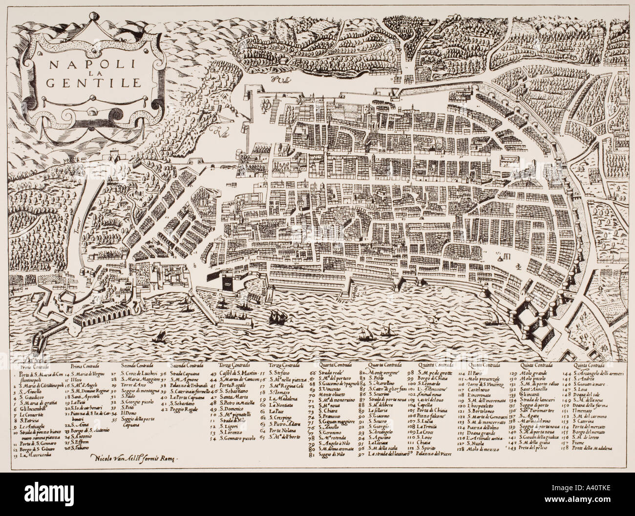 Map of Naples Italy undated but put as circa 1600 by Map Room ...