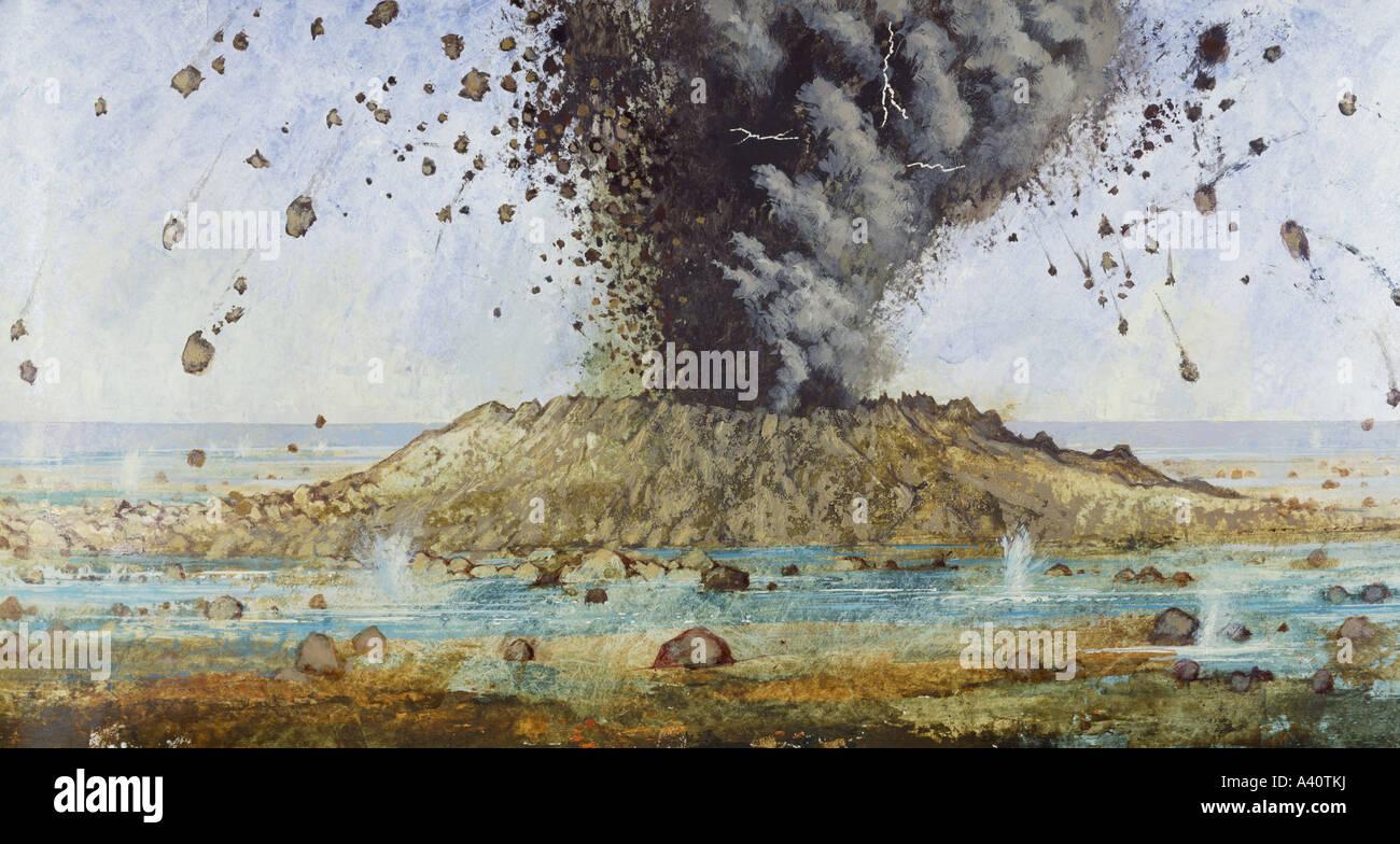Precambrian volcano - Stock Image