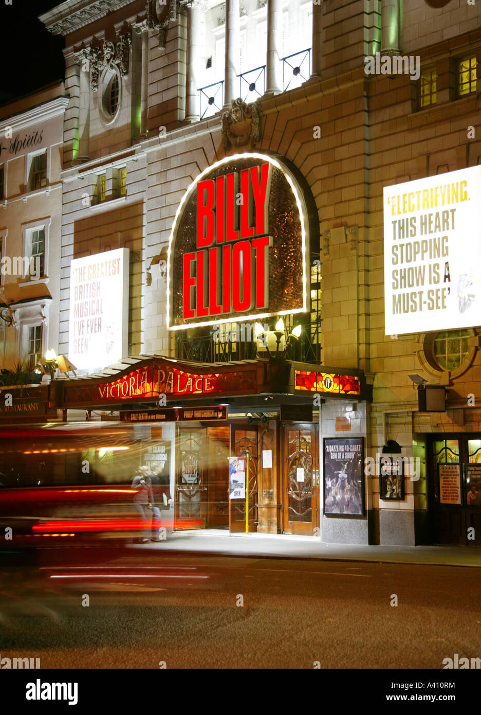 The Victoria Palace Theatre London showing Billy Elliot - Stock Image