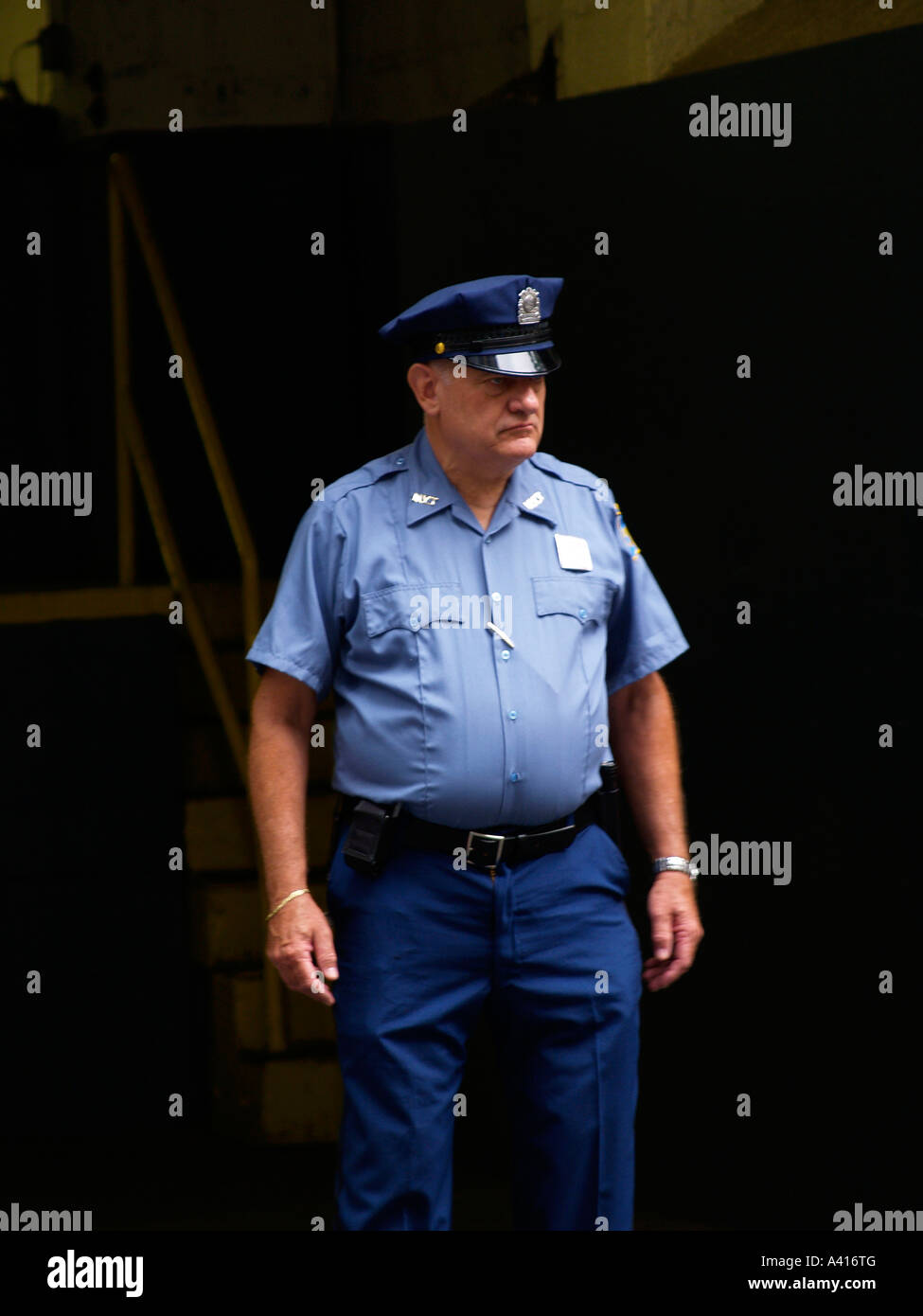 Security Guard 42nd Street New York - Stock Image