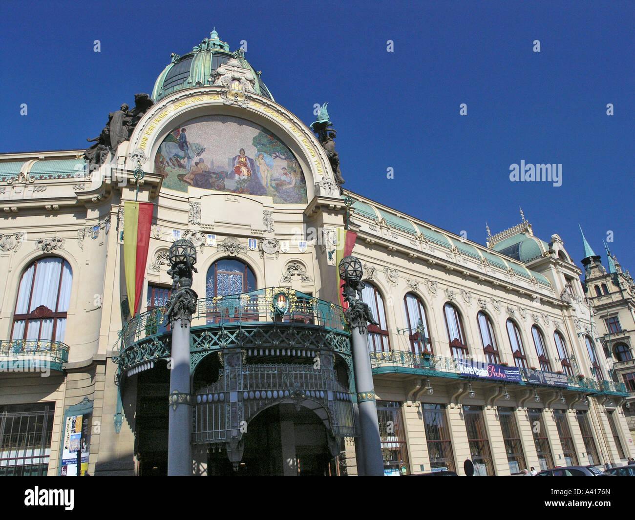 Prague Old Town Municipal House Czech Republic Europe EU Stock Photo