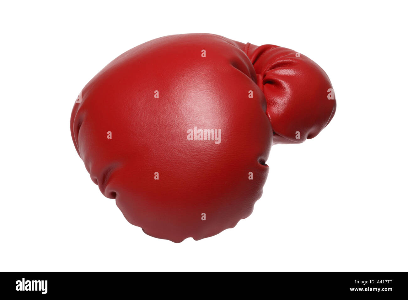 Boxing Glove cut out on white background - Stock Image