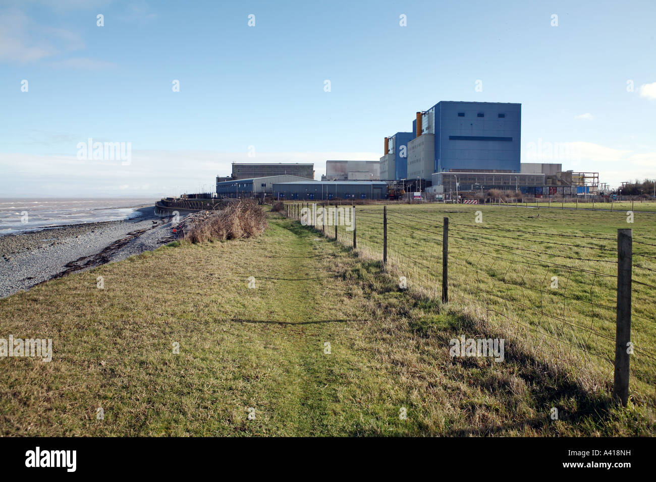 Hinkley Point nuclear power station, Somerset UK. - Stock Image