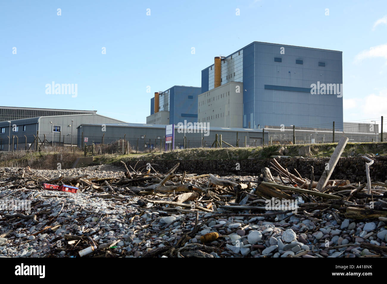 Hinkley Point nuclear power station, Somerset UK. Stock Photo