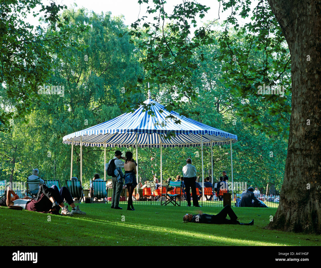 Summer Bandstand St.James Park London U.K. Europe - Stock Image