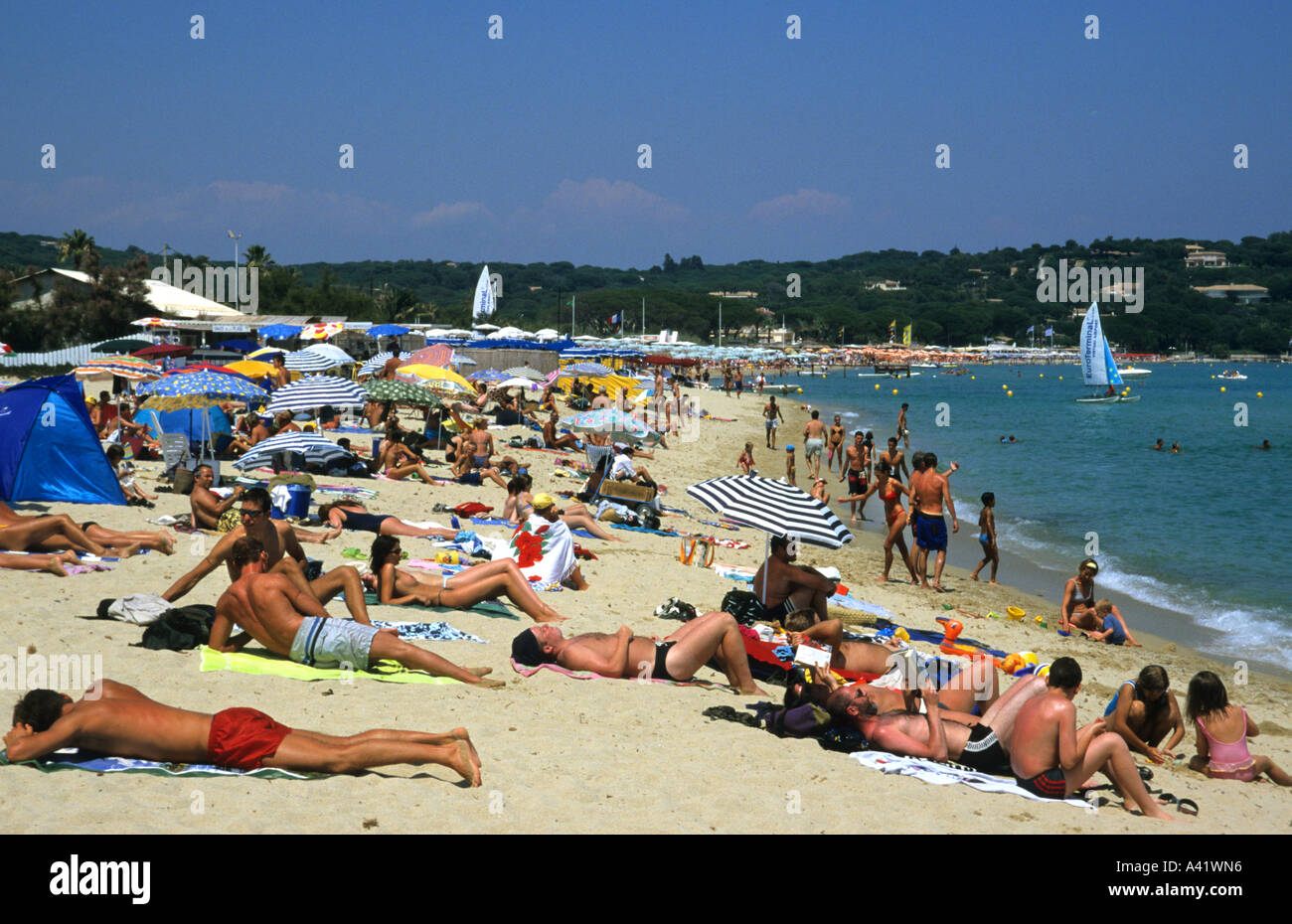 Pampelonne Beach Saint Tropez France Stock Photos Pampelonne