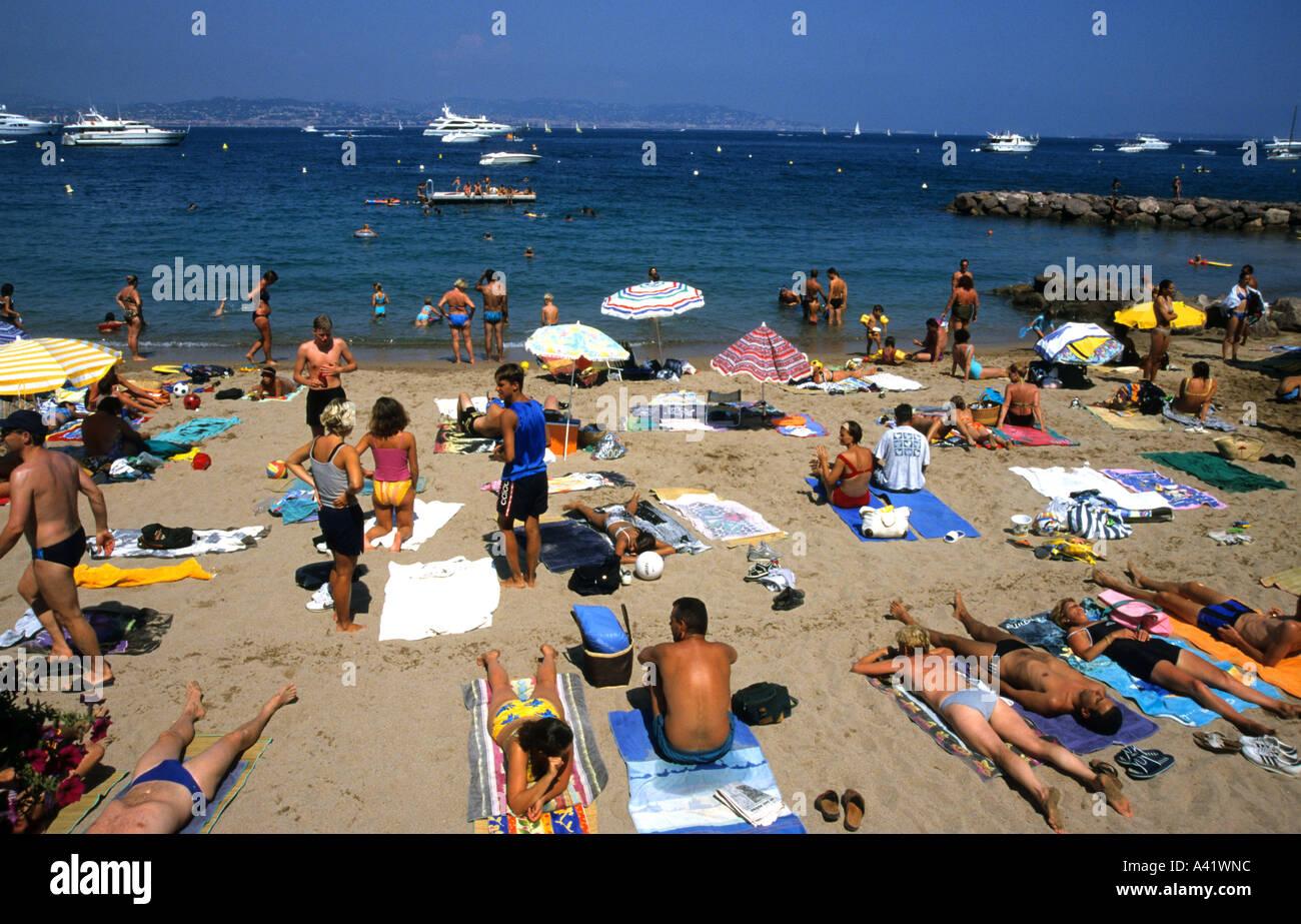 Plage De Pampelonne Côte Dazur Saint Tropez France Beach Stock