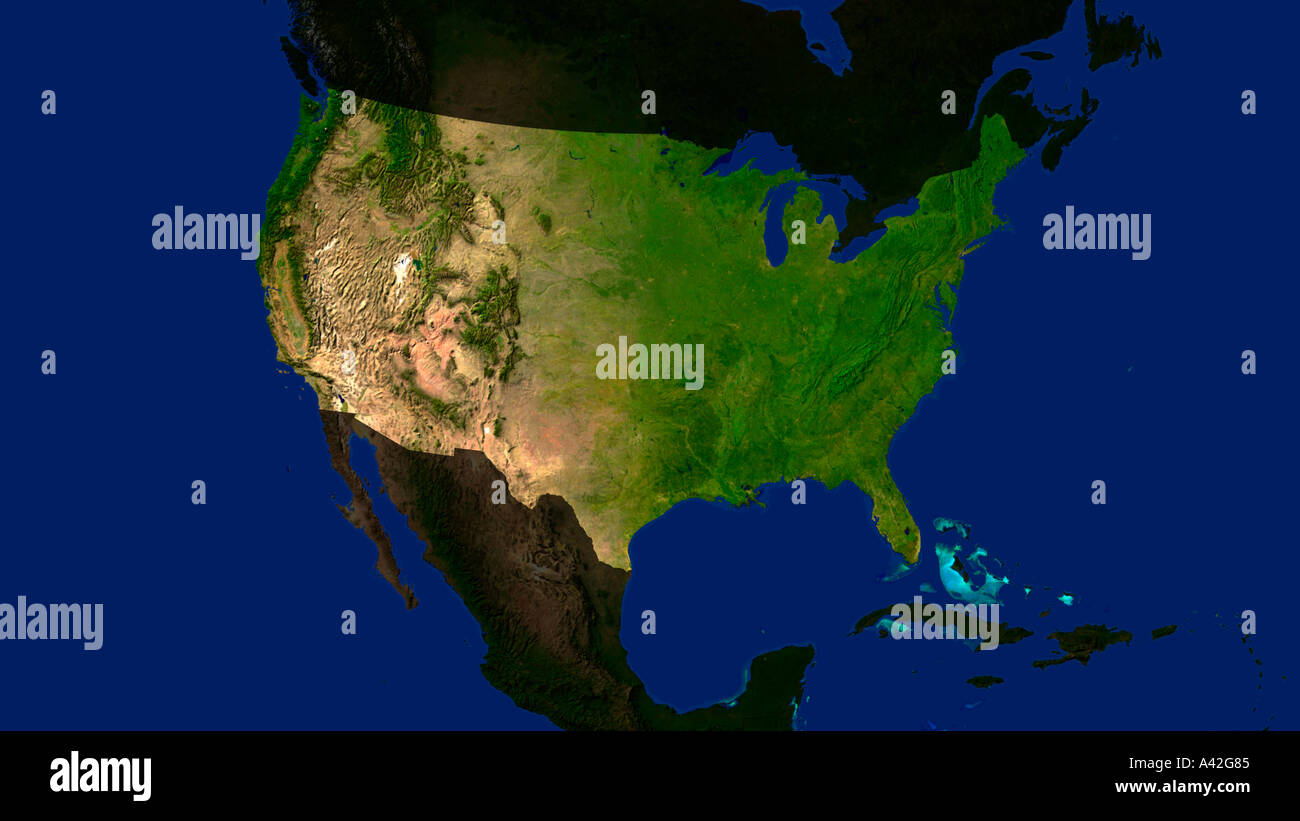 United States Map Satellite.Usa Map Satellite Stock Photos Usa Map Satellite Stock Images Alamy