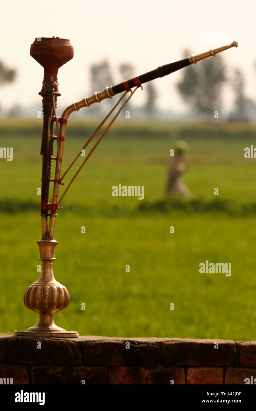 Hooka, Indian water pipe smoking device, India Stock Photo