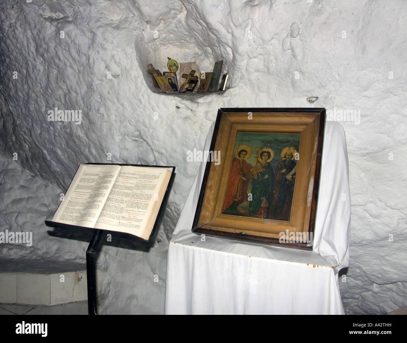 St Photis Shrine, Kalymnos Greece. - Stock Image