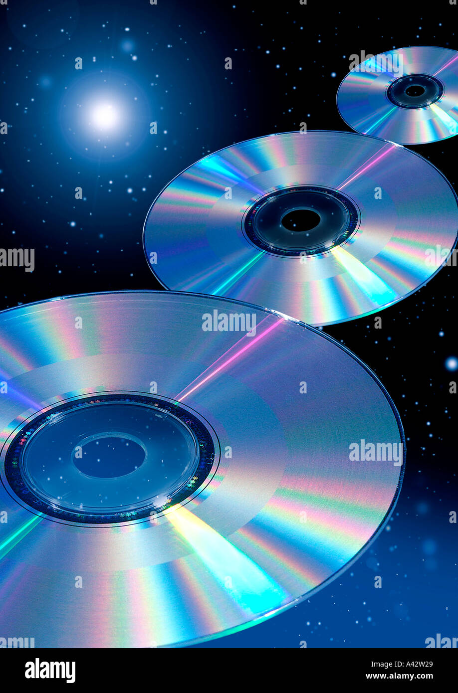 DVD CD - Stock Image