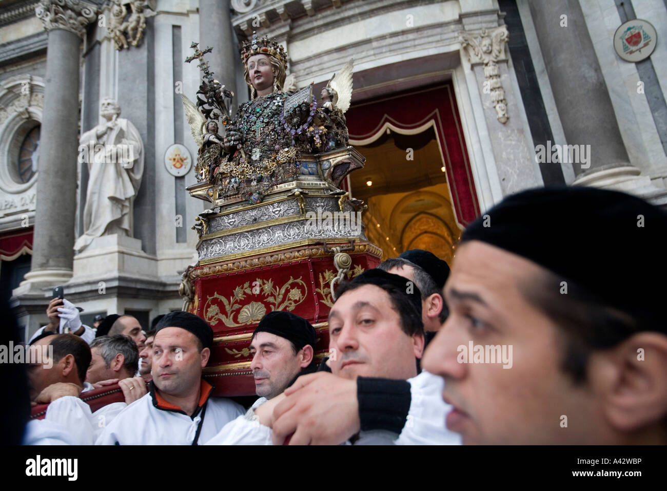 Celebration for S Agata Saint protector of Catania Sicily Italy - Stock Image