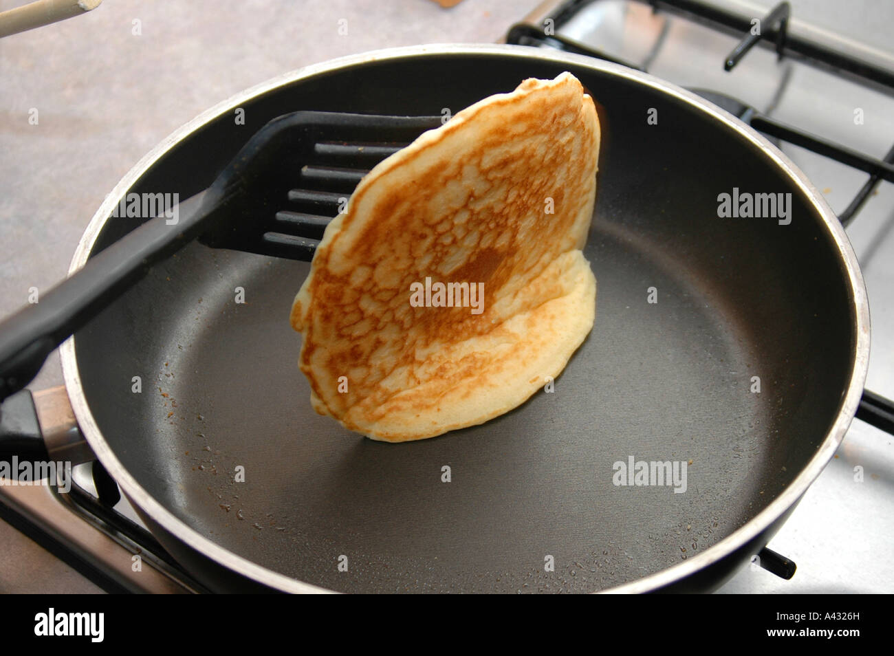 Cooking A Cake In A Frying Pan