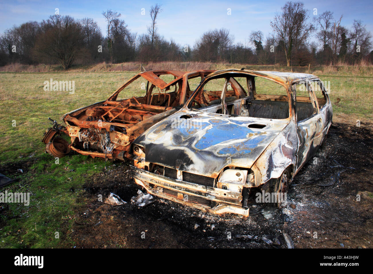 Wrecked Cars Stock Photo - Alamy