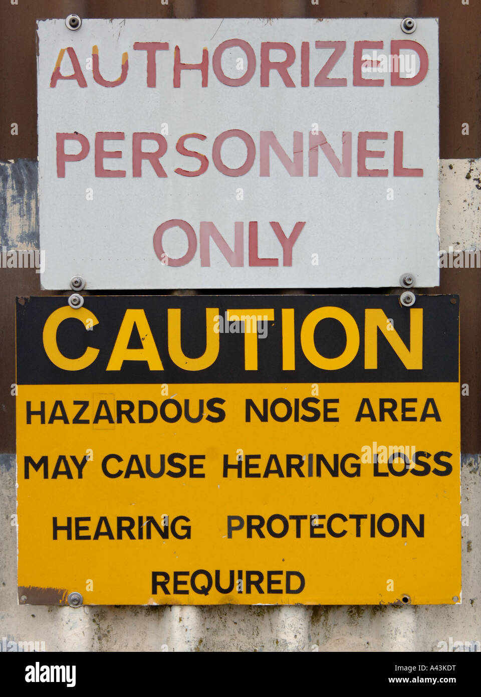 Hearing Protection Sign Stock Photos & Hearing Protection