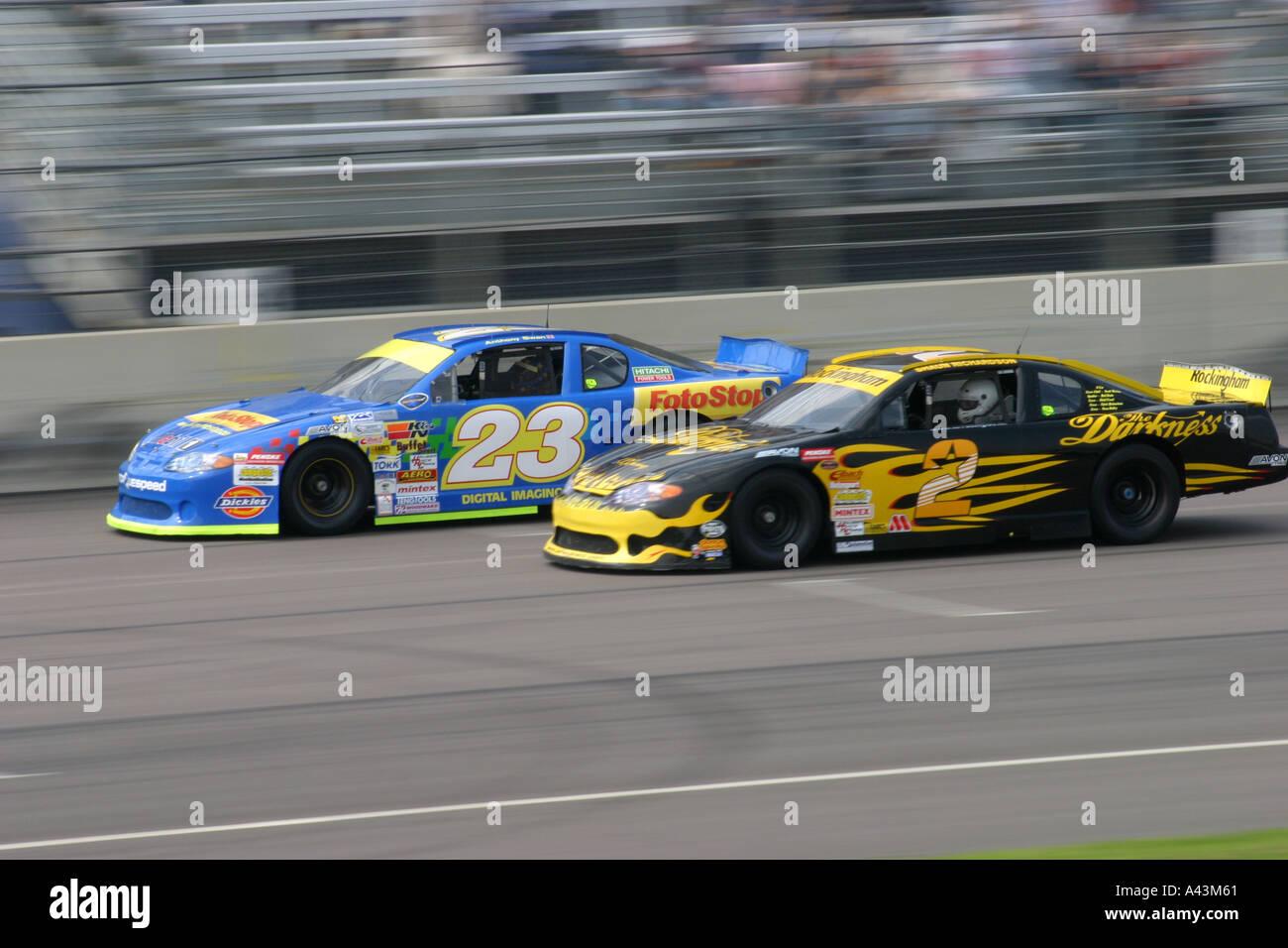 Two V8 Nascar racing cars Stock Photo: 3565664 - Alamy