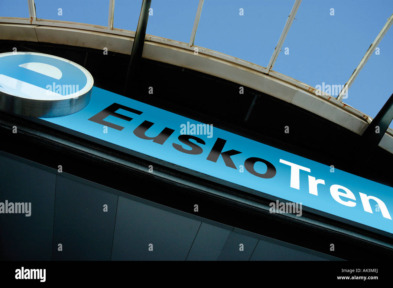 EUSKOTREN SIGN BASQUE COUNTRY SPAIN - Stock Image
