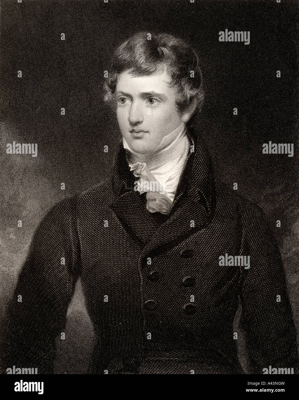 Edward George Geoffrey Stanley 14th Earl of Derby Lord Stanley 1799 to 1869 English statesman and three times Prime - Stock Image