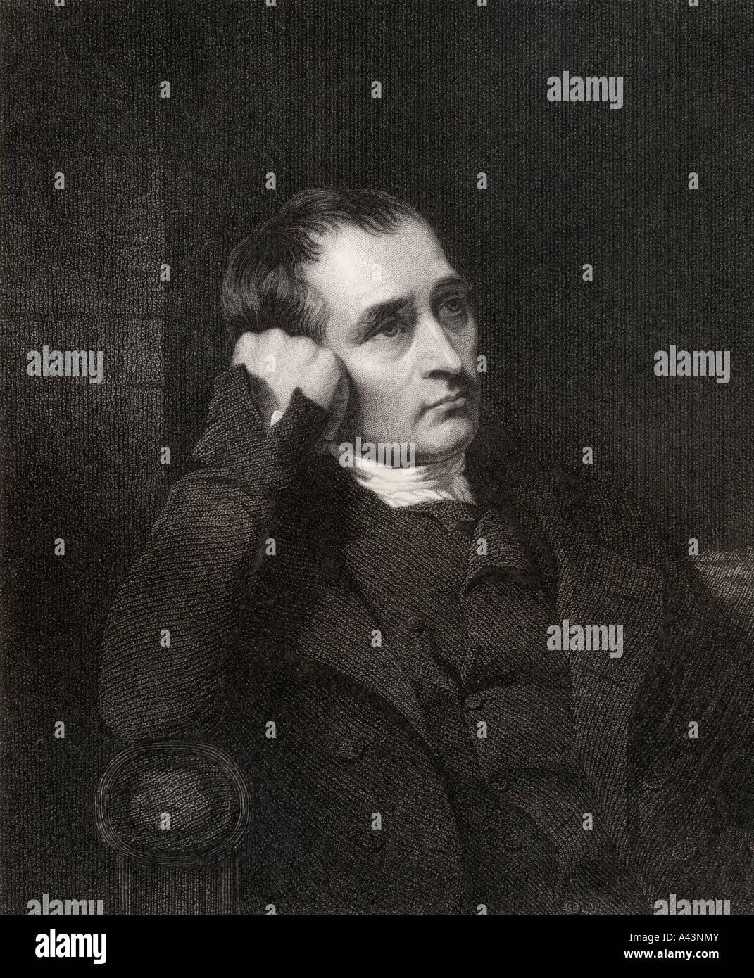 Samuel Crompton 1753 to 1827 English inventor - Stock Image