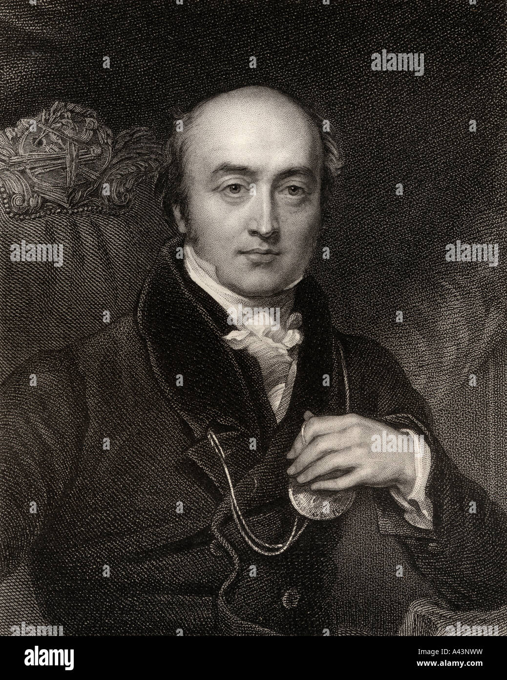 Sir Thomas Lawrence 1769 to 1830 English portrait painter collector and President of the Royal Academy - Stock Image