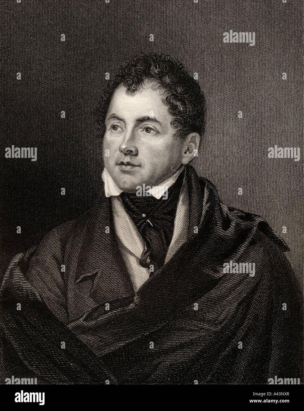Thomas Moore 1779 to 1852 Irish poet - Stock Image