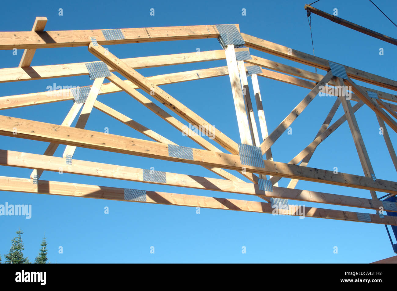 construction roof trusses in place - How To Build Roof Trusses