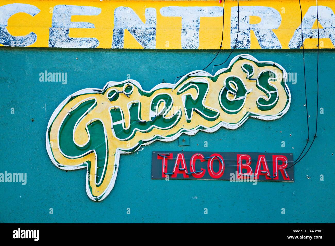 Texas Austin Gueros Taco Bar Restaurant Sign On South Congress Hip