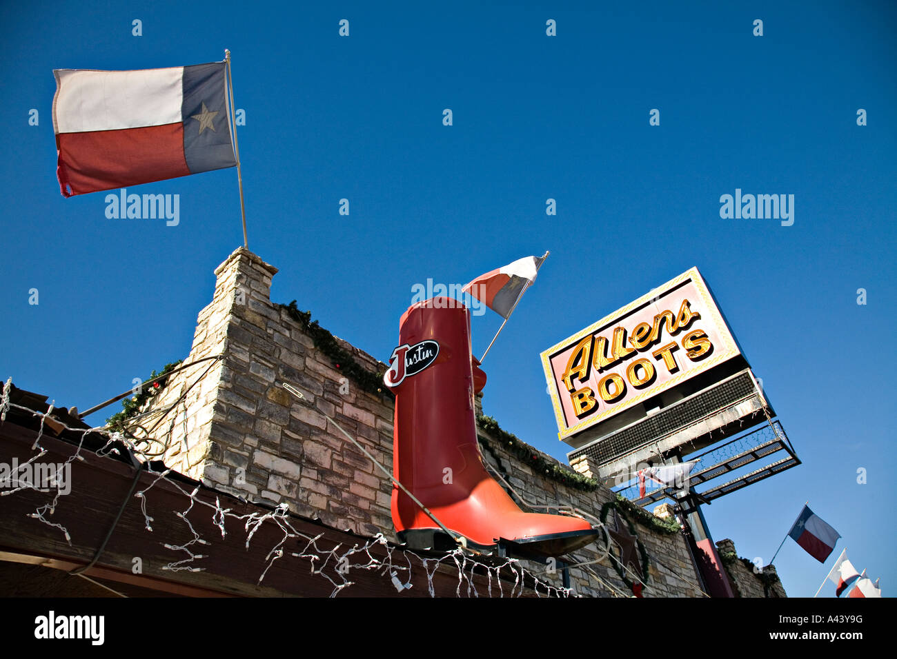 eb851c0506e TEXAS Austin Oversized cowboy boot Allens Boots store on South Congress hip  SoCo district Lone Star