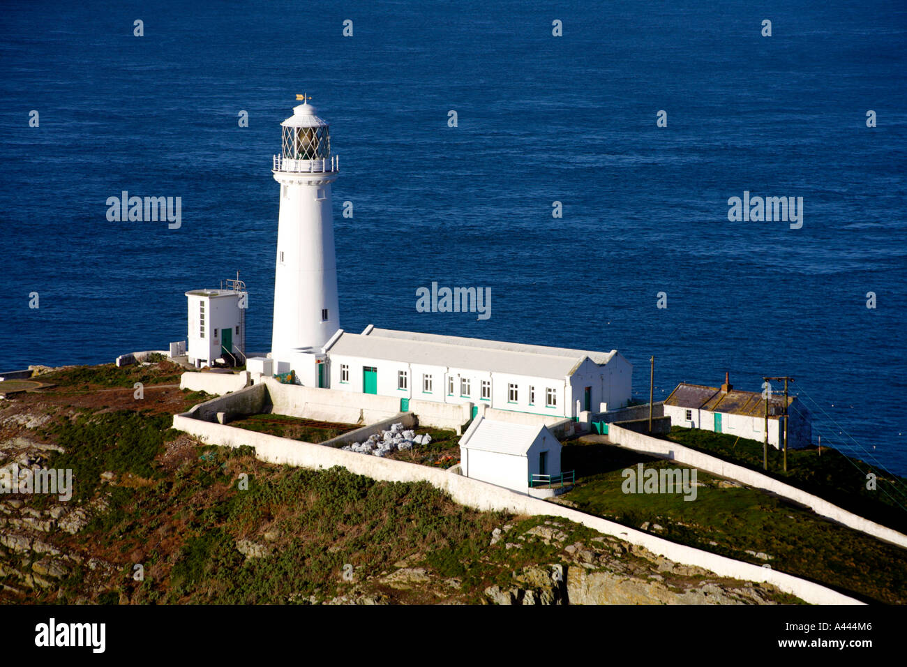 South Stack Lighthouse, Anglesey, Wales Stock Photo