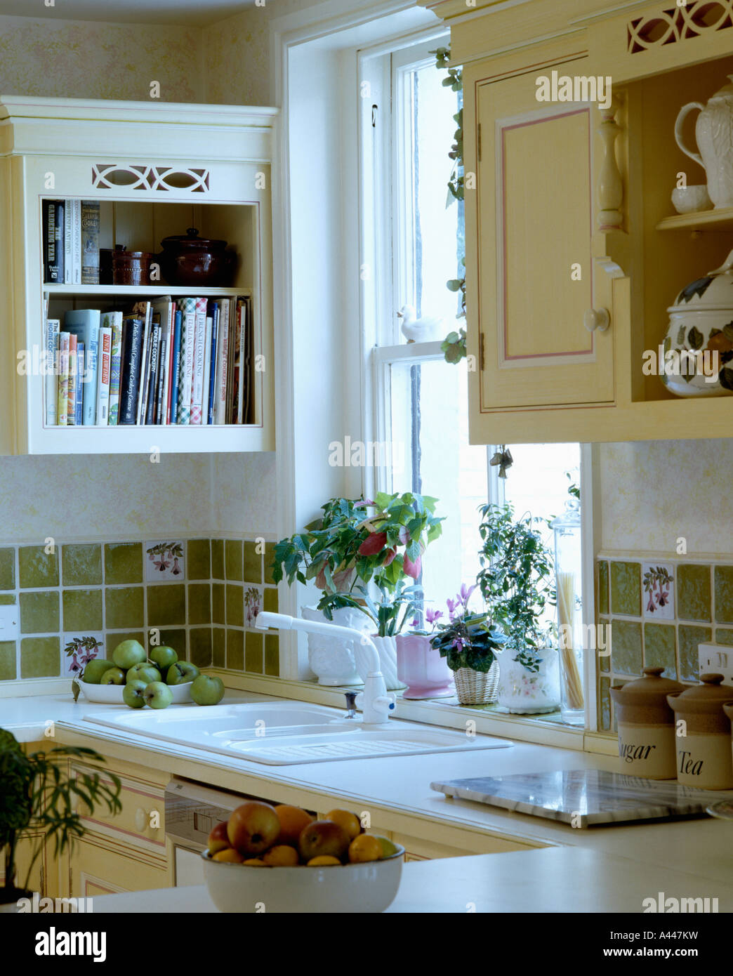 Small Country Kitchens Domestic Stock Photos & Small Country ...