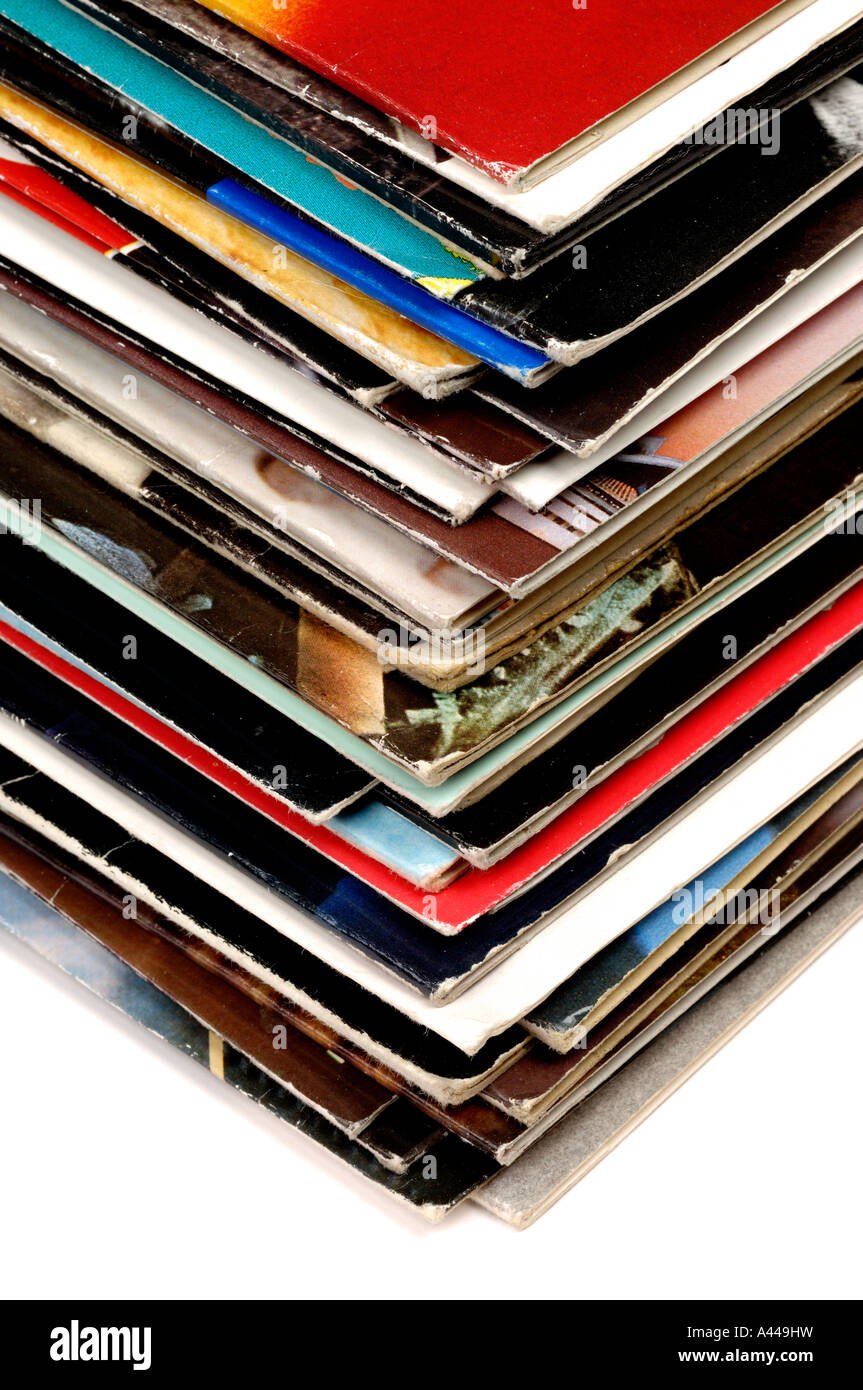 Music record sleeves - Stock Image