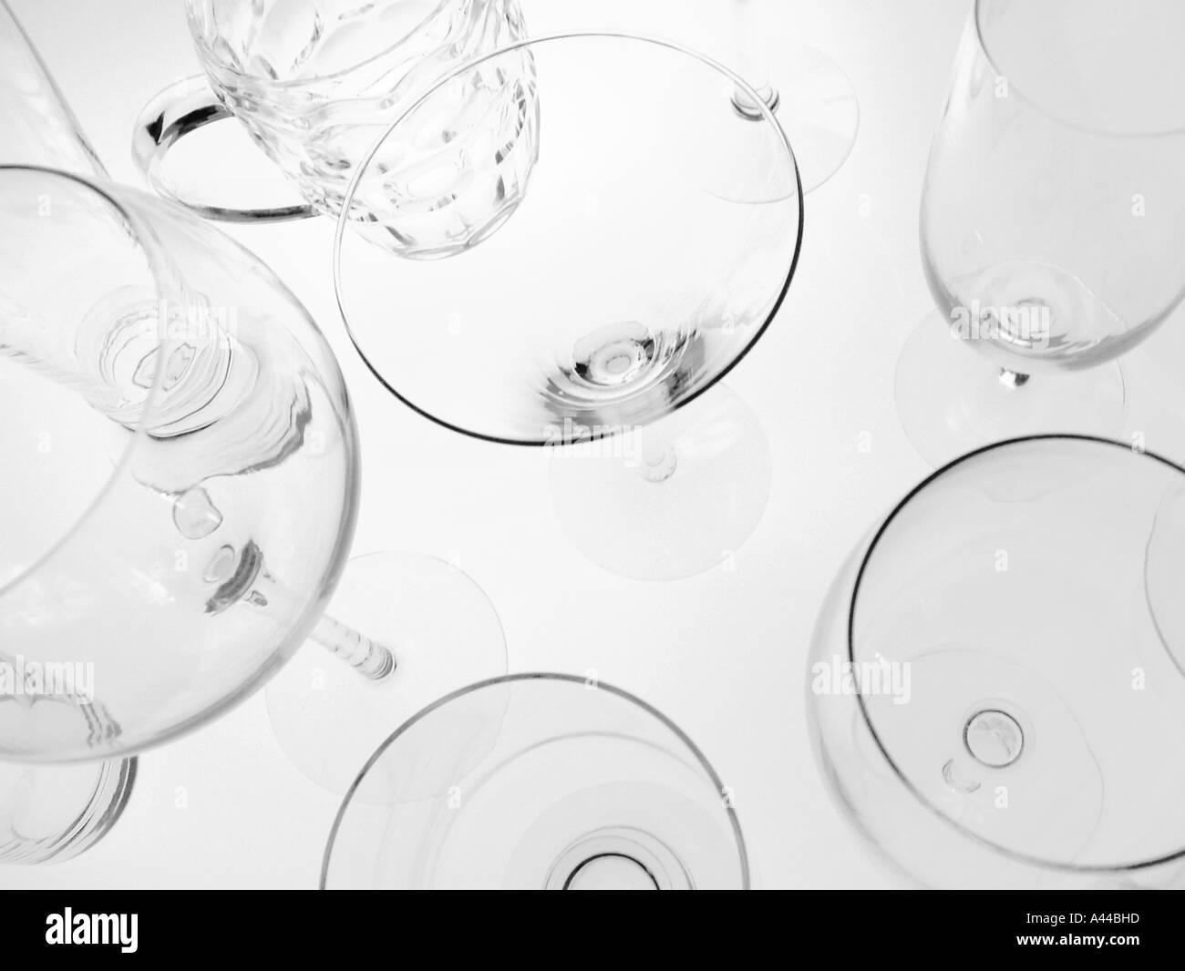 Bar glasses - Stock Image