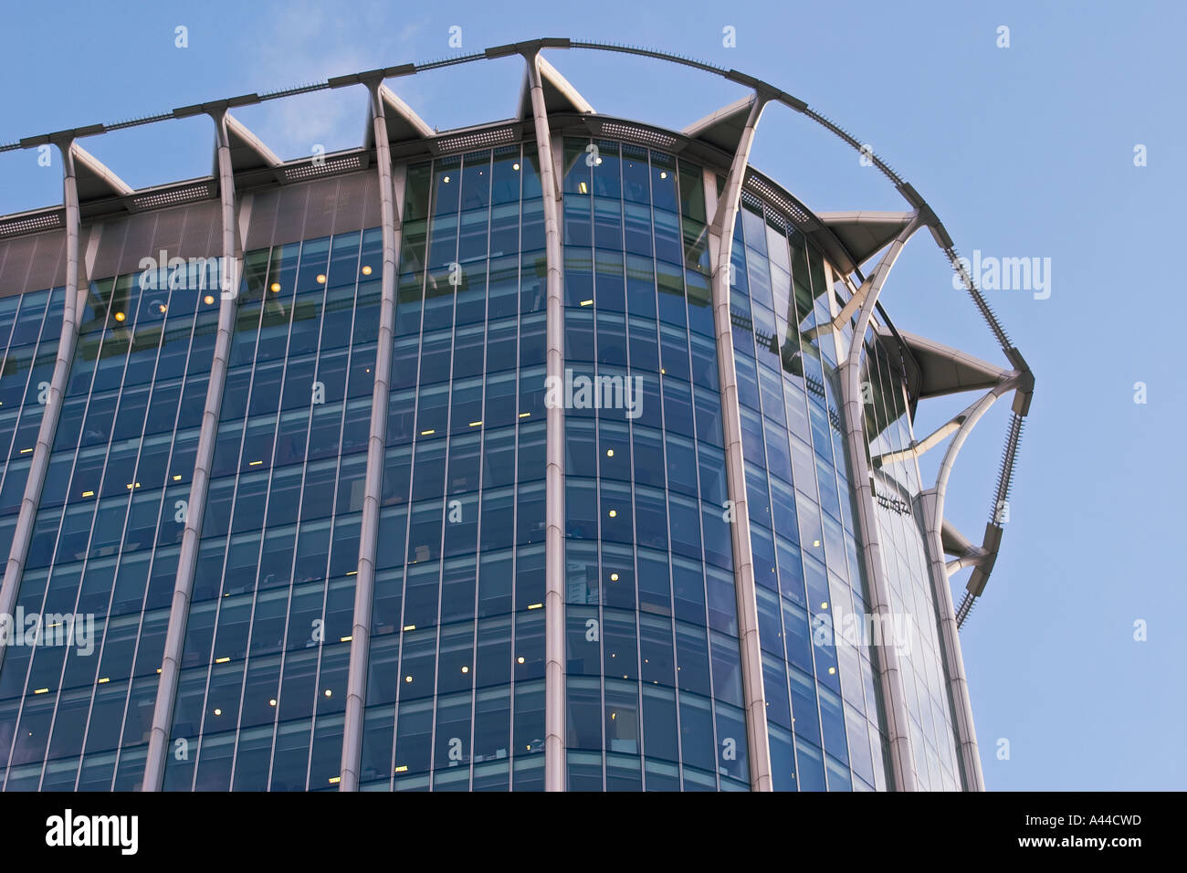 Close up detail of Citypoint building in Ropemaker place - Stock Image